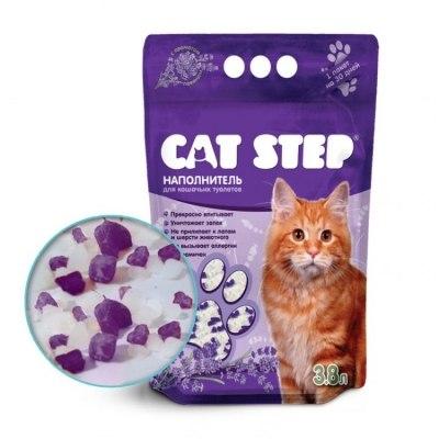 Наполнитель В НАЛИЧИИ Cat Step силикагелевый 3,8л, лаванда