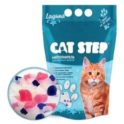 Наполнитель Cat Step силикагелевый 3,8л, лагуна