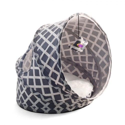 Лежанка-туннель Triol серая для кошек 480*430*350мм