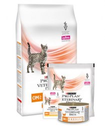 Сухой корм PPVD OM St/Ox для взрослых кошек для снижения избыточной массы тела, с низкой калорийностью, 350г