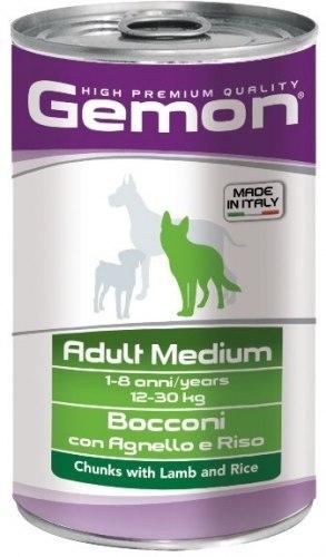 Консерва В НАЛИЧИИ Gemon для собак средних пород (ягненок/рис) 1250г