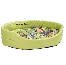Лежак овальный с подушкой Crazy XXL 102x90x20 cm в горошек