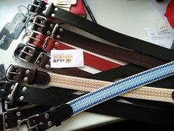 Ошейник В НАЛИЧИИ Gripalle кожаный Дакс, красный, ширина 35см, длина 45см