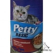 Консерва В НАЛИЧИИ Petty для кошек с кусочками говядины, 405г