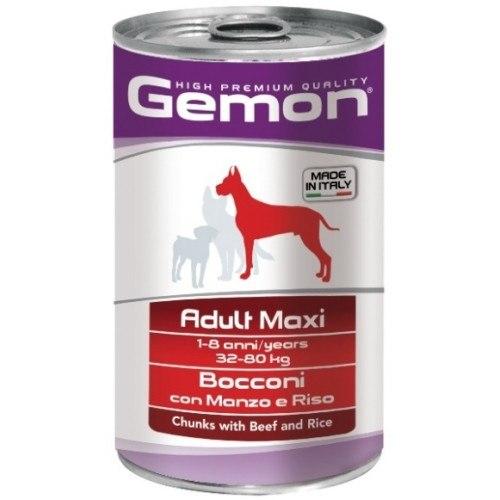 Консерва В НАЛИЧИИ Gemon для крупных собак, говядина/рис, 1250г