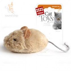 Игрушка В НАЛИЧИИ Gigwi мышка с звуковым чипом, 13 см