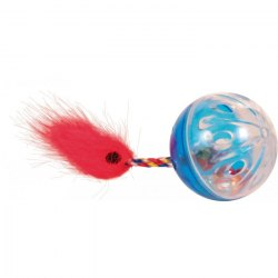 Игрушка В НАЛИЧИИ TRIXIE шарик трещащий с фигуркой, диам.4см, 1 шт