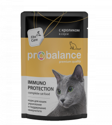 Консерва В НАЛИЧИИ ProBalance Immuno Protection, для кошек с кроликом в соусе, 85г