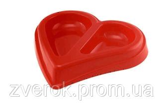 Миска двойное сердце 0,45л