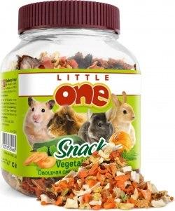 Овощная смесь В НАЛИЧИИ Little one для всех грызунов, банка 150г