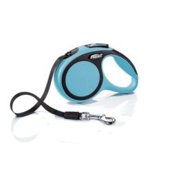 Поводок-рулетка В НАЛИЧИИ Flexi New Comfort, тросовый синий М до 20кг/5м