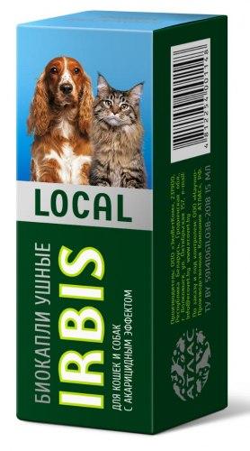 Биокапли ИРБИС ЛОКАЛ ушные, для собак и кошек, 15 мл