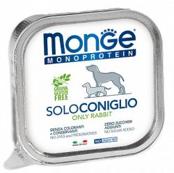 Монопротеиновый паштет В НАЛИЧИИ Monge с кроликом, 150г