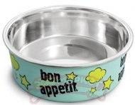 Миска В НАЛИЧИИ Triol металлическая на резинке Bon Appetit, 0,25л