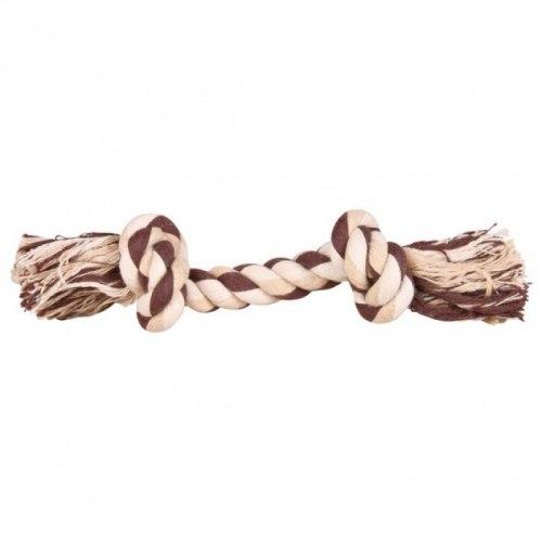 Игрушка TRIXIE в виде веревки с двумя узлами, хлопковая 25г/15см