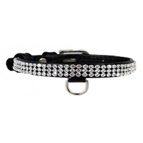 Ошейник Collar Brilliance с украшение полотно стразы, ширина 9мм, длина 19-25см