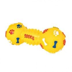 Игрушка В НАЛИЧИИ TRIXIE виниловая для собаки Гантель, со звуком 19 см