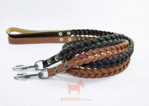 Поводок В НАЛИЧИИ Collar плетеный двойная коса (ш14 мм, д 122см)