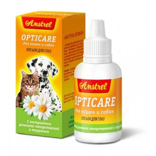Лосьон В НАЛИЧИИ Amstrel Opticare для кошек и собак, 30 мл