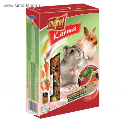 Корм В НАЛИЧИИ Vitaporol фруктовый для хомяков и кроликов, 350г