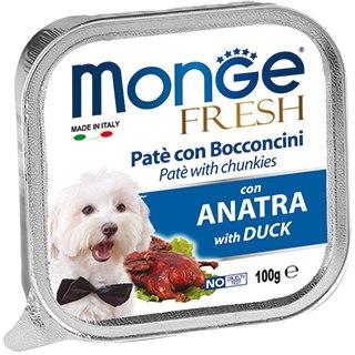 Консерва Monge Dog fresh duck, паштет для собак с уткой, 100г