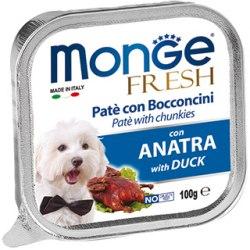 Консерва В НАЛИЧИИ Monge Dog fresh duck, паштет для собак с уткой, 100г