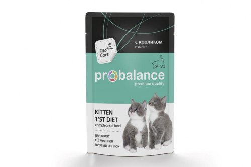 Консерва В НАЛИЧИИ ProBalance для котят с кроликом, 1 шт