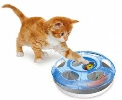 Игрушка В НАЛИЧИИ Geoplast интерактивная для кошек с 2 шариками Ufo