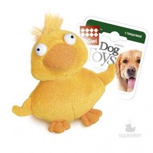 Игрушка В НАЛИЧИИ Goods for pets для собак Утка, с пищалкой, 13 см