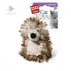 Игрушка В НАЛИЧИИ Gigwi для кошек Ежик с погремушкой, плюш 7 см
