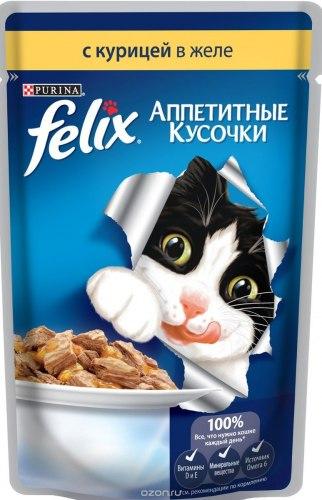 Консерва В НАЛИЧИИ Felix с курицей в желе, 85г