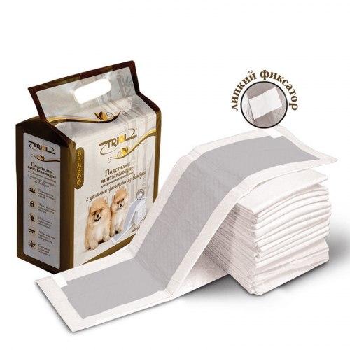 Пеленки В НАЛИЧИИ Triol с угольным фильтром из бамбука, 60*60, на липучках, 1 шт