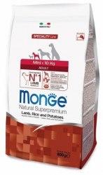 Сухой корм НА РАЗВЕС Monge для взрослых собак мелких пород с ягненком, 0,5 кг