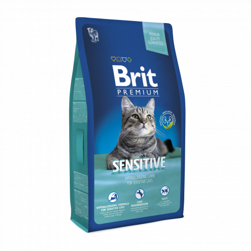 Сухой корм НА РАЗВЕС Брит Premium Cat Sensitive, 1 кг