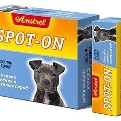Биокапли В НАЛИЧИИ Amstrel Spot-on для собак средних и крупных пород, 1шт/5мл