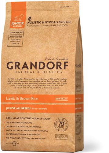 Сухой корм В НАЛИЧИИ Grandorf DOG Lamb&Rice JUNIOR 1 кг.
