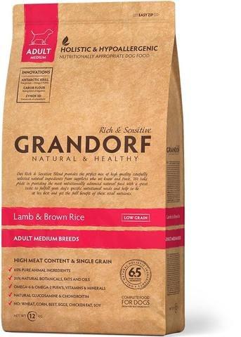 Сухой корм В НАЛИЧИИ Grandorf DOG Lamb&Rice MEDIUM 3 кг.