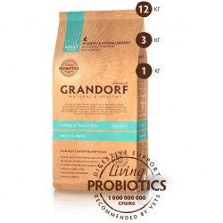 Сухой корм Grandorf DOG 4 Meat&Rice PROBIOTIC ALL BREEDS 12 кг.