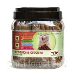Лакомство Green Qzin Подвижность №4, мягкие мясные колбаски для кошек из кролика и курицы, 1шт