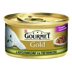 Консерва В НАЛИЧИИ Gourmet Gold кусочки в подливке с кроликом и печенью, 85г