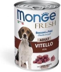 Консерва Monge Vitello fresh chunks, мясной рулет с телятиной для взрослых собак, 400г