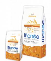 Сухой корм НА РАЗВЕС Monge для взрослых собак всех пород (Утка+рис+картофель) 1 кг