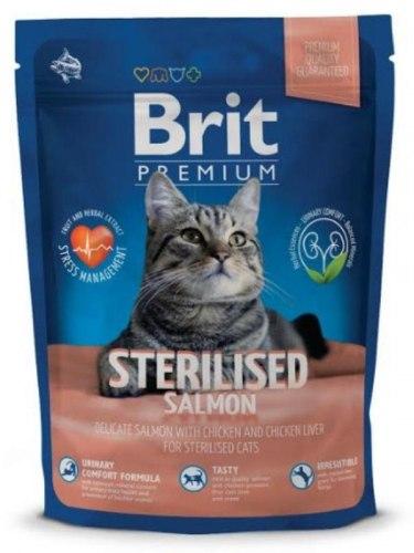 Сухой корм Брит Premium Cat Sterilised Salmon 1,5 кг