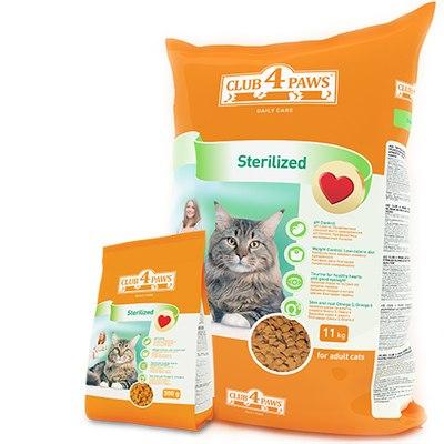 Сухой корм НА РАЗВЕС Клуб 4 Лапы для стерилизованных кошек, 1 кг