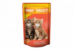 Консерва В НАЛИЧИИ PROхвост для котят цыпленок в соусе, 85г