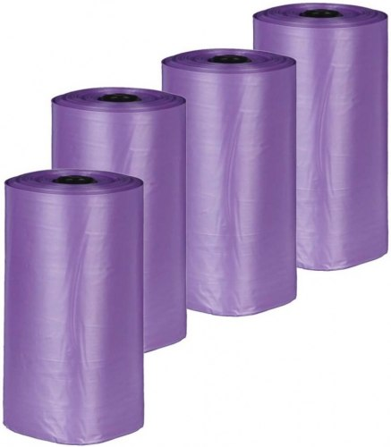 Одноразовые пакеты TRIXIE для уборки за собаками с ароматом лаванды, 4 рулона по 20шт