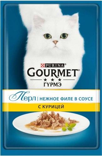 Консерва В НАЛИЧИИ Gourmet Perle с курицей в подливке, 85 г