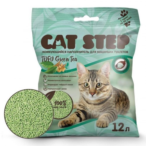 Наполнитель Cat Step Tofu Green Tea 12л