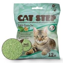 Наполнитель В НАЛИЧИИ Cat Step Tofu Green Tea 12л