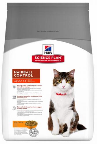Сухой корм Hill's Science Plan Hairball Control сухой для кошек для выведения шерсти с курицей 1,5 кг